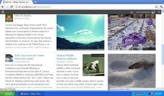 i was on WordPress Tag Nature Featured Posts Feb. 15